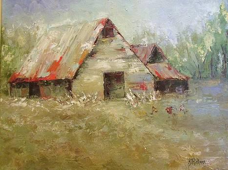 The Old Barns by Brandi  Hickman