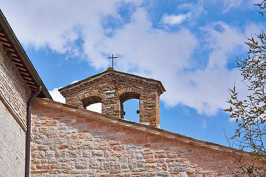 The old Church of red bricks of Italy by Larisa Karpova