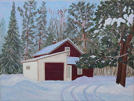 The Old Farmhouse in Winter by Ann Laase Bailey