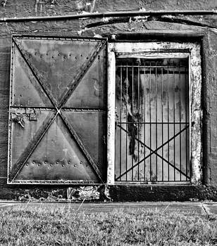The Old Fort Gate-Black and White by Andrew Crispi