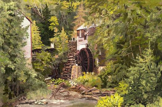 The Old Mill Kings Landing NB by Edith Hicks