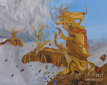 The Moses Tree And The Hundres Butterflies by Richard Dotson