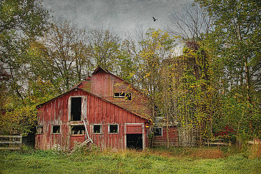 The Old Red Farm At Penwell by Pat Abbott