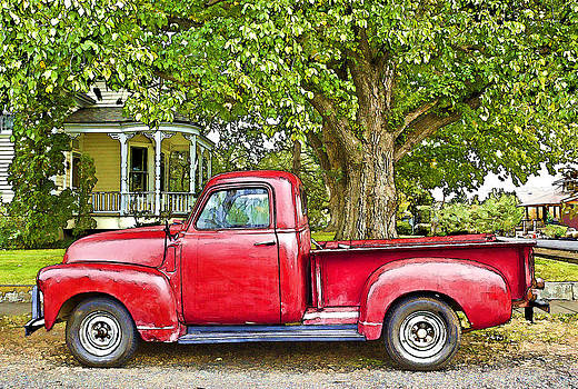 The Old Red Truck by Ginger Sanders