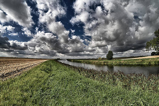 The Old River Nene North of March by Tony Coleby