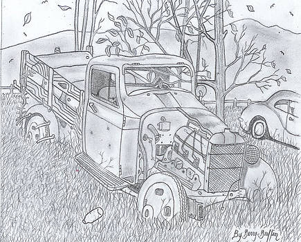 The Old Texaco Gas Truck by Gerald Griffin