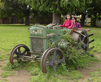 The Old Tractor CASE Resting With No Where To Go by Thomas D McManus