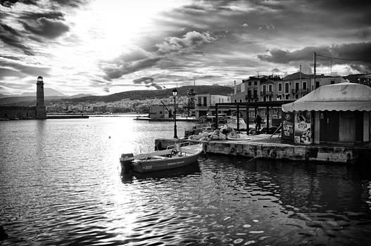 The Old Venetian Port of Rethymno in Crete by Spyros Papaspyropoulos