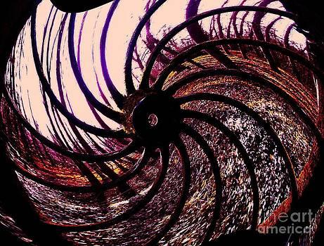 The Old Wheel by Jessie Art