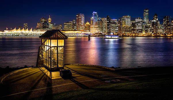 The Olympic Cauldron from Stanley Park in Vancouver by Alexis Birkill