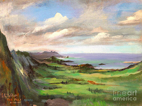 Art By Tolpo Collection - The Pali Oahu Hawaii - 1960