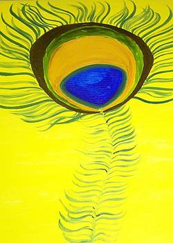 The Peacock's feather by Leena Samat Kuchadiya