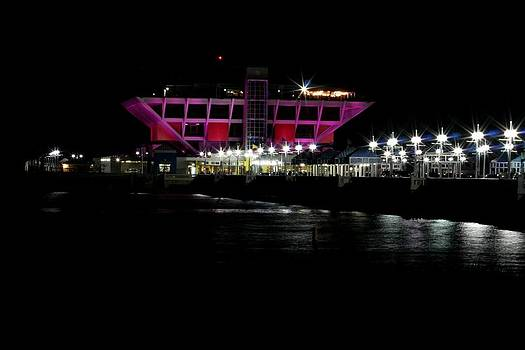 The Pier in Pink by April Wietrecki Green