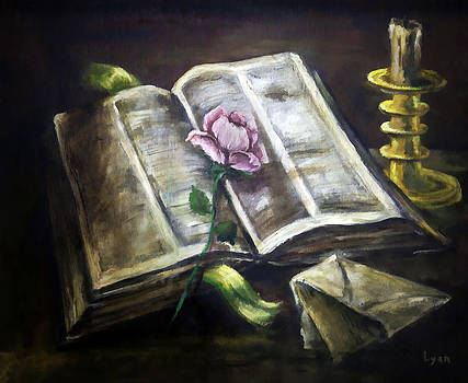 Lynn Palmer - The Pink Rose Book and Candlestick