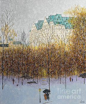 The Plaza Hotel circa 1932 by Patrick Antonelle