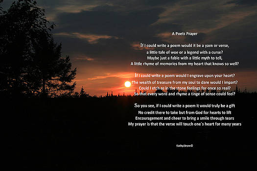Kathy J Snow - The Poets Prayer with Sunset By Kathy J Snow