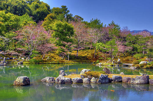 Matt Swinden - The pond at Tenryuji Temple