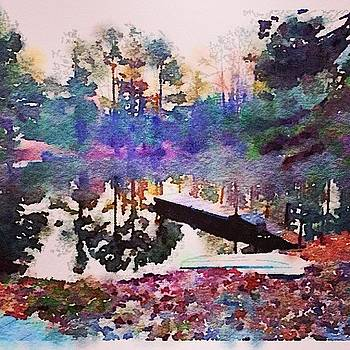 The Pond This Morning I'm Watercolor by Jeff Madlock