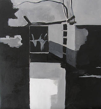 The Pool - BW underpainting by Don Perino