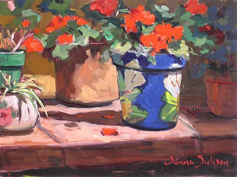 The Potting shelf by Donna Dickson