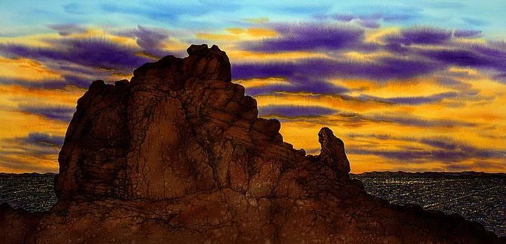 The Praying Monk Arizona by John YATO