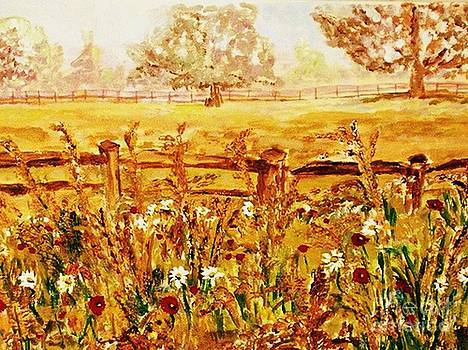 The Prince of Wales Wild Flower Fields by Helena Bebirian