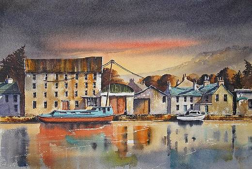 The Quay At Graiguenamanagh by Roland Byrne