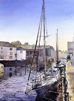 The quay at Truro by Margaret Merry