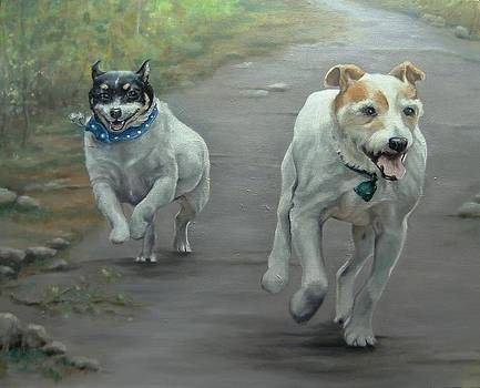 The Race Is On by Pamela Humbargar