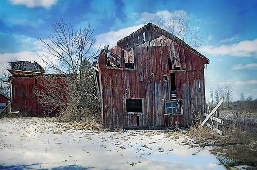 The red barn by Cheryl Cencich
