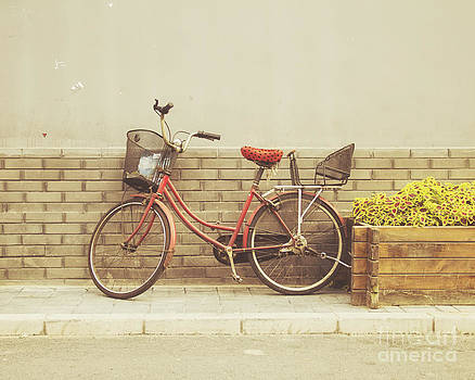 The Red Bicycle by Jillian Audrey Photography