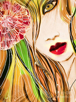 The Red lips by Hilda Lechuga