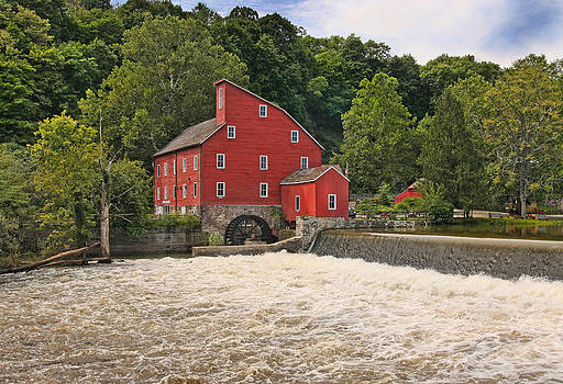 The Red Mill the Day After Irene by Pat Abbott