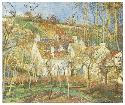 Camille Pissarro - The Red Roofs Corner of a village Winter
