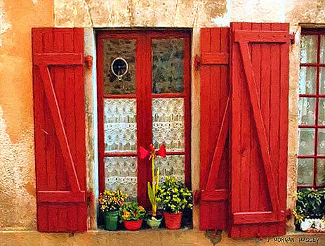 The Red Shutters by J Morgan Massey
