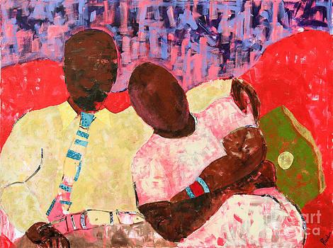 The Red Sofa by Paula Drysdale Frazell