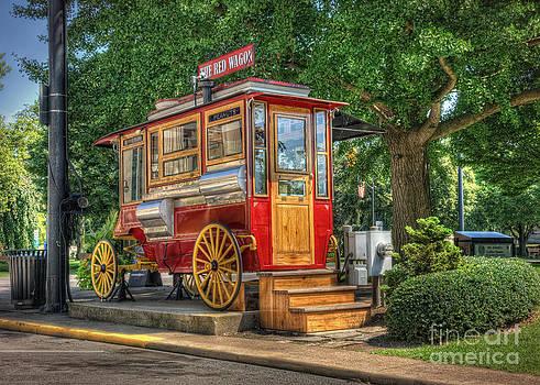 The Red Wagon of Sandusky Ohio by Pamela Baker