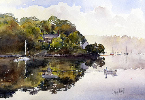 The river at Malpas by Margaret Merry
