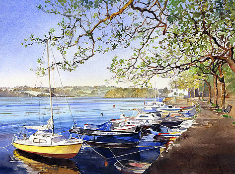 The river at Sunny Corner by Margaret Merry