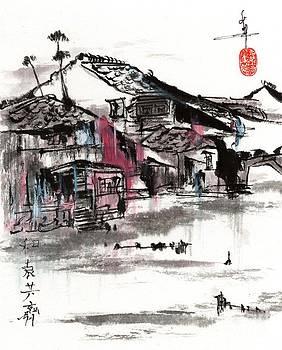 The River in RoseBlue Hue by Linda Smith
