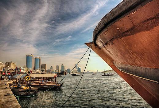 The river of Dubai by John Swartz
