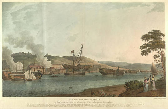 The Royal Dockyard At Chatham by British Library
