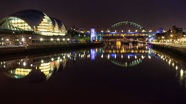 The Sage and Tyne Bridges by Wayne Molyneux
