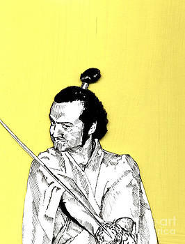 The Samurai On Yellow by Jason Tricktop Matthews