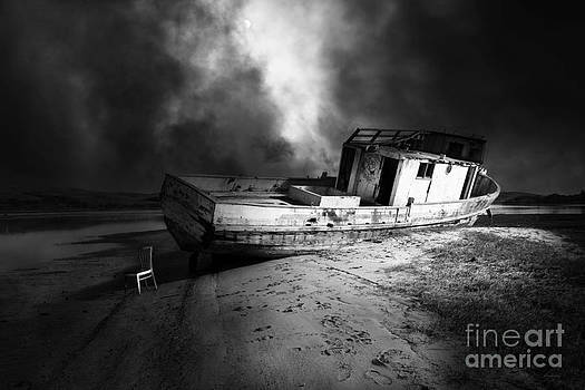 Wingsdomain Art and Photography - The Sea Never Gives Up Her Dead DSC2099 BW