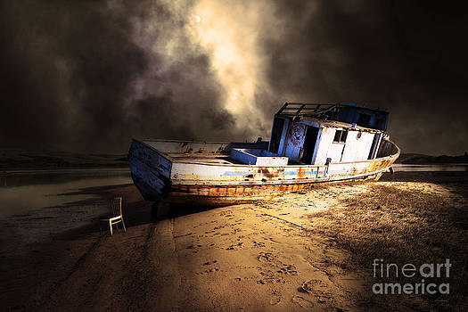 Wingsdomain Art and Photography - The Sea Never Gives Up Her Dead DSC2099 Partial Sepia
