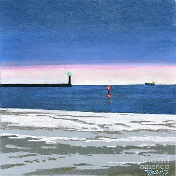 The September beach in Gdynia by Viacheslav Rogin