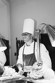 Sandra Pena de Ortiz - The Serving Chef In Black And White