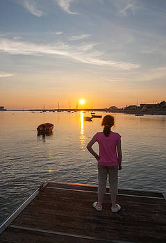 The Setting Sun with Child by Max Blinkhorn