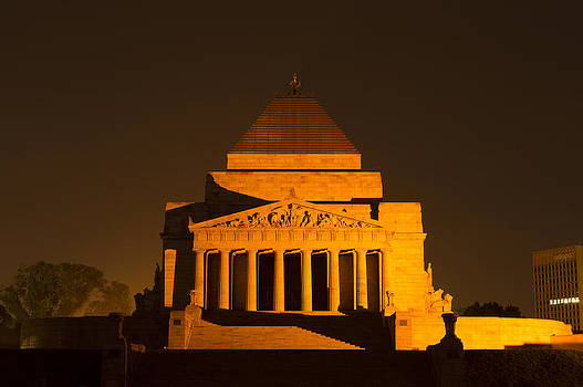 The Shrine of Remembrance  by Debra Simms